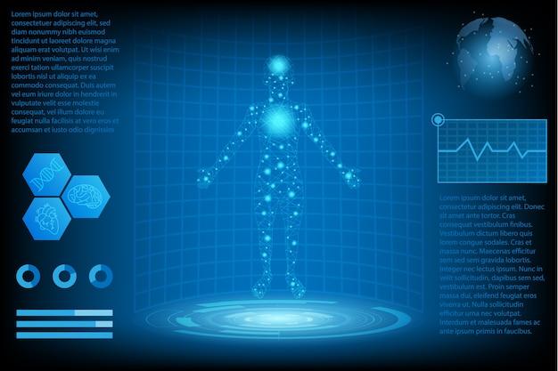 Conceito de ciência tecnologia futurista abstrata