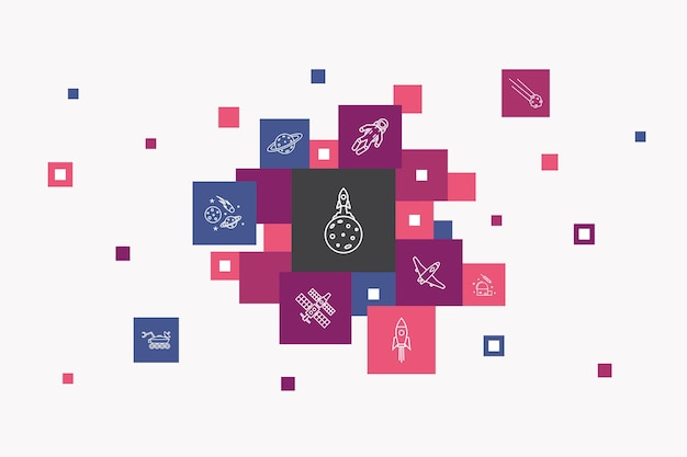 Conceito de círculo de infográfico de biotecnologia. elementos de iu inteligentes dna, ciência, bioengenharia, biologia