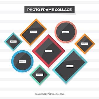 Conceito de colagem colorida de moldura de foto