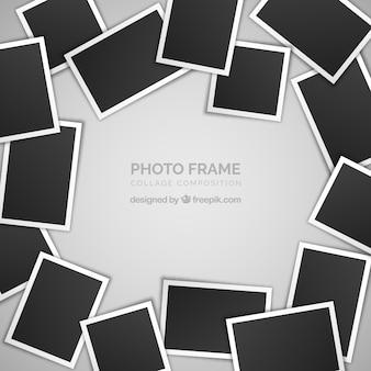 Conceito de colagem de moldura de foto