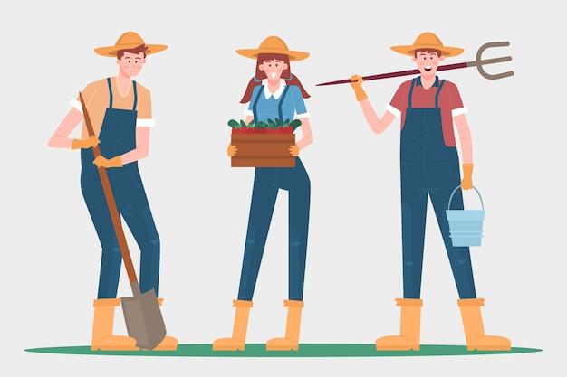 Conceito de coleção de agricultor