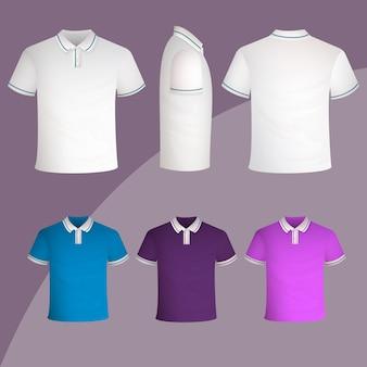 Conceito de coleção de camisa polo