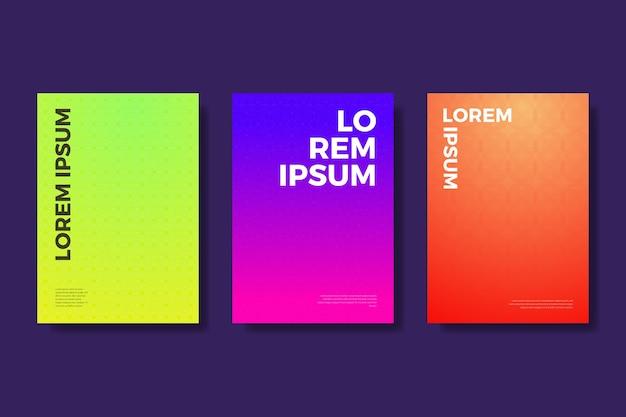 Conceito de coleção de capa gradiente de meio-tom