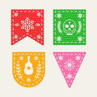 Conceito de coleção de estamenha mexicana