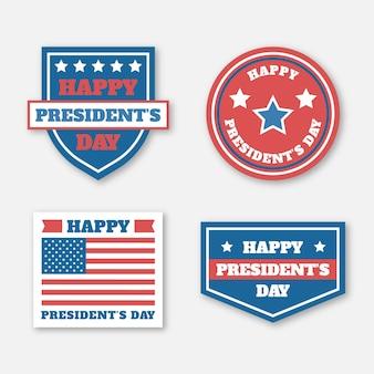 Conceito de coleção de etiquetas para o dia do presidente