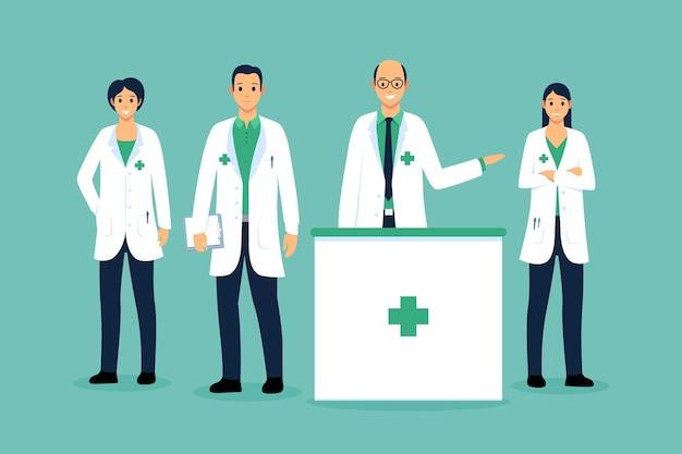 Conceito de coleção de farmacêutico