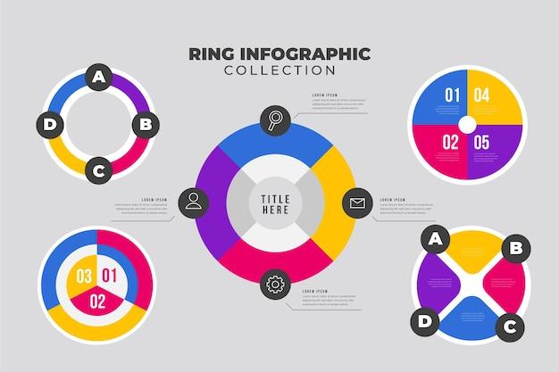 Conceito de coleção de infográfico de anel
