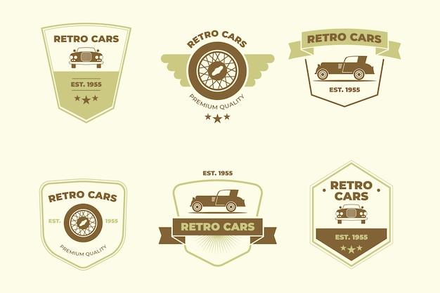 Conceito de coleção de logotipo de carros antigos