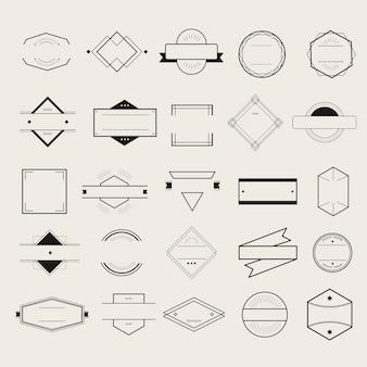 Conceito de coleção de logotipo de distintivo de símbolo de ícone