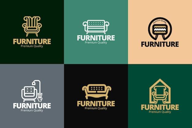 Conceito de coleção de logotipo de móveis