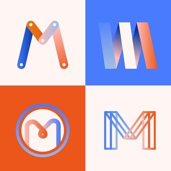 Conceito de coleção de logotipo m