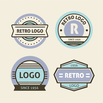 Conceito de coleção de logotipo retrô