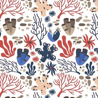 Conceito de coleção de padrão de coral