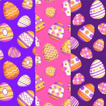 Conceito de coleção de padrão de dia de páscoa