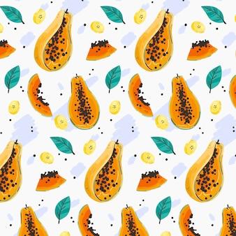 Conceito de coleção de padrão de frutas