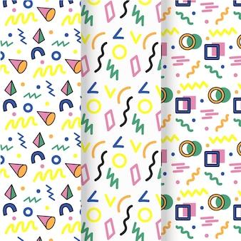 Conceito de coleção de padrão de memphis