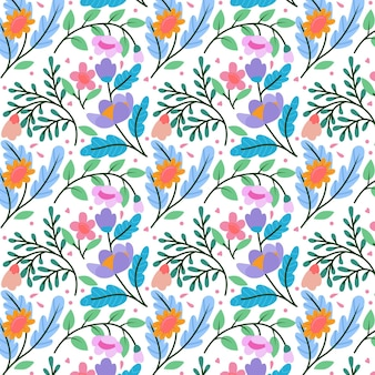 Conceito de coleção de padrão floral
