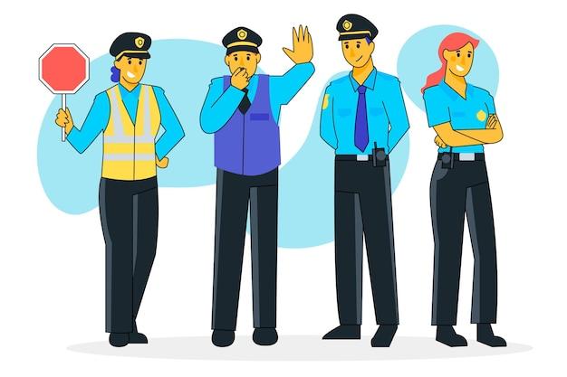 Conceito de coleção de polícia