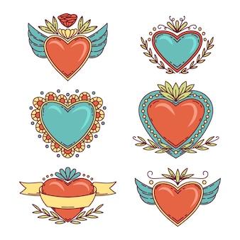 Conceito de coleção do coração sagrado