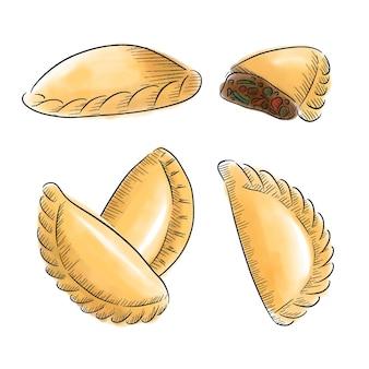 Conceito de coleção empanada