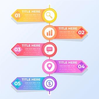 Conceito de coleção infográfico gradiente