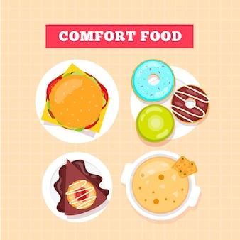 Conceito de comida de conforto