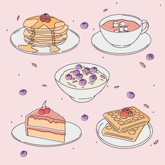 Conceito de comida deliciosa