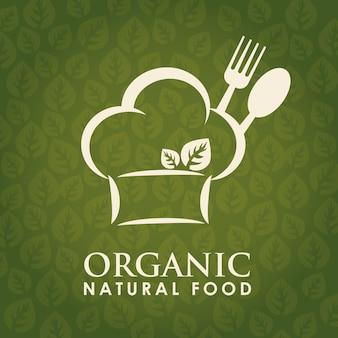 Conceito de comida e menu com design de ícone