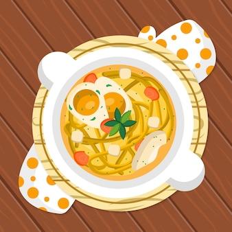 Conceito de comida reconfortante com ramen