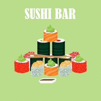 Conceito de comida tradicional japonesa