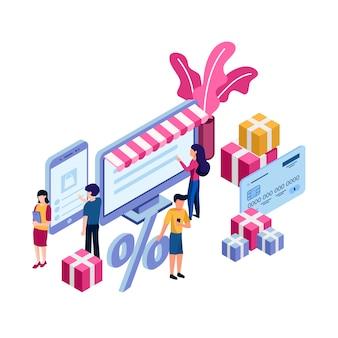 Conceito de compra de loja online