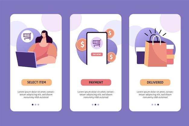 Conceito de compra online com clientes