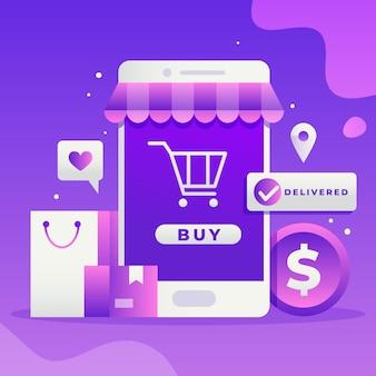 Conceito de compra online
