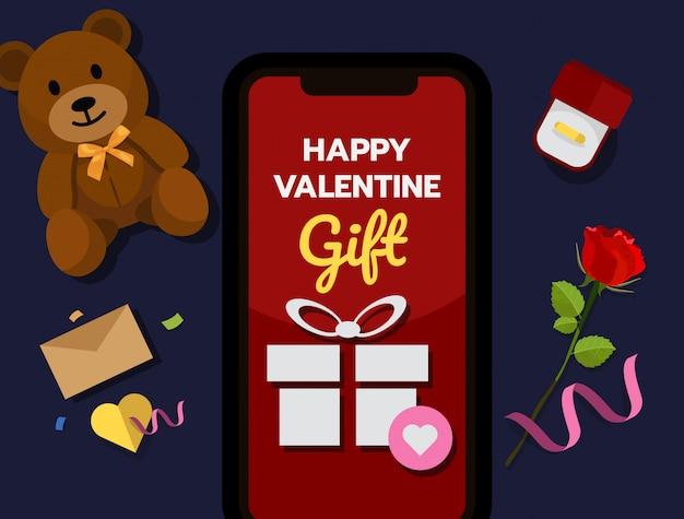 Conceito de compras on-line de valentine ™