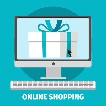 Conceito de compras on-line