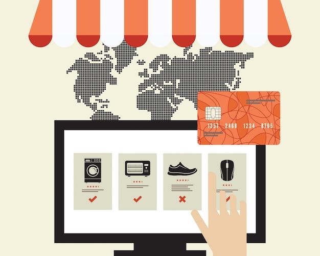 Conceito de compras pela internet