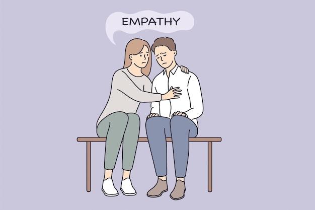 Conceito de compreensão de empatia e compaixão