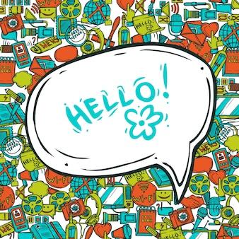 Conceito de comunicação com bolha de fala