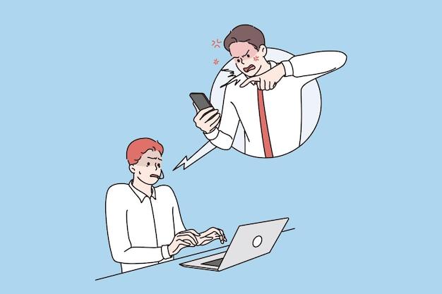 Conceito de comunicação com o cliente no trabalho