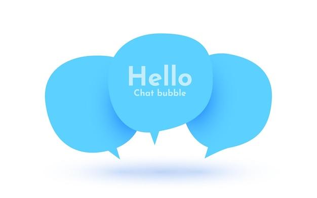 Conceito de comunicação de sinal de bolha de bate-papo em estilo jornal