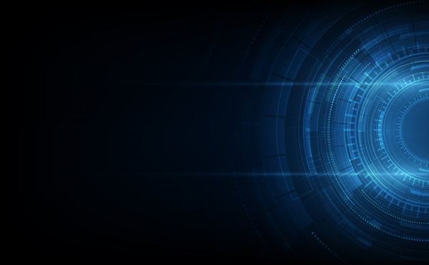 Conceito de comunicação de tecnologia abstrata de fundo vector