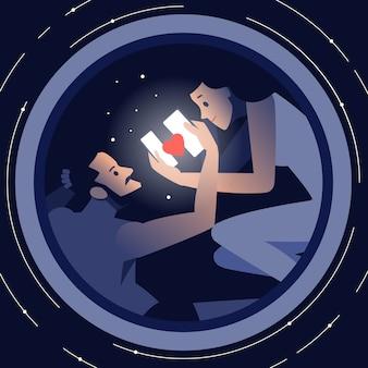 Conceito de comunicação e pessoas de tecnologia na internet