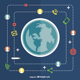 Conceito de comunicação global