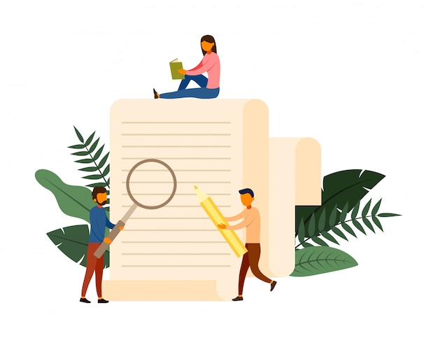 Conceito de conceito de pesquisa on-line com ilustração de personagem
