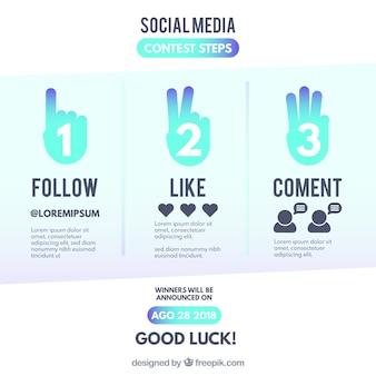 Conceito de concurso de mídia social