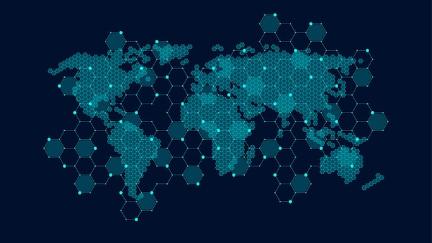 Conceito de conexão de rede global. comunicação de rede social