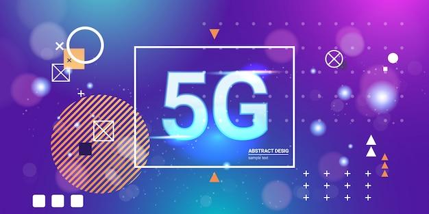 Conceito de conexão de sistemas sem fio de rede de comunicação 5g on-line