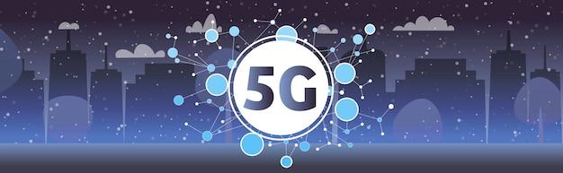 Conceito de conexão de sistemas sem fio de rede de comunicação on-line cidade inteligente