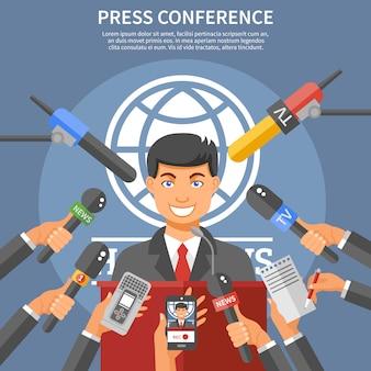 Conceito de conferência de imprensa