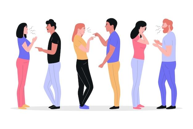 Conceito de conflitos de casal